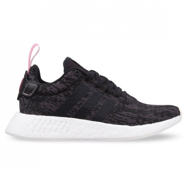 Adidas Women Originals NMD R2 Black Pink Shoes BY9...