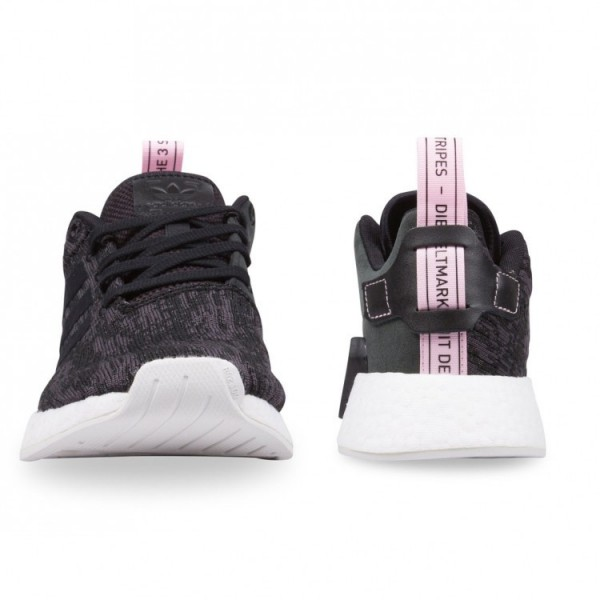 Adidas Women Originals NMD R2 Black Pink Shoes BY9314