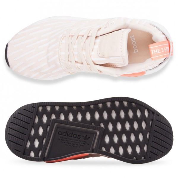Adidas Women Originals NMD R2 Beige White Shoes BA7260