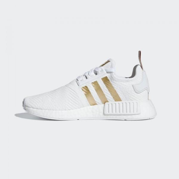 Adidas Women Originals NMD R1 White Gold Shoes B37650
