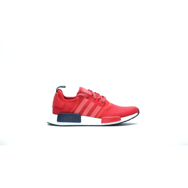 Adidas Women Originals NMD R1 Red White Shoes S760...
