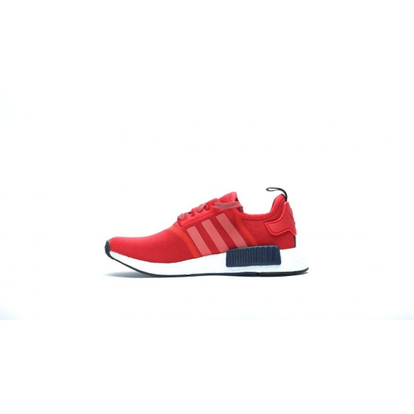 Adidas Women Originals NMD R1 Red White Shoes S76013