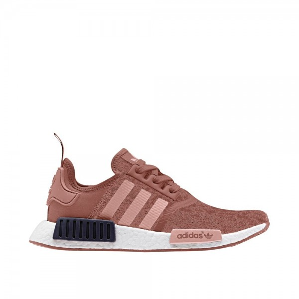 Adidas Women Originals NMD R1 Pink White Shoes BY9...