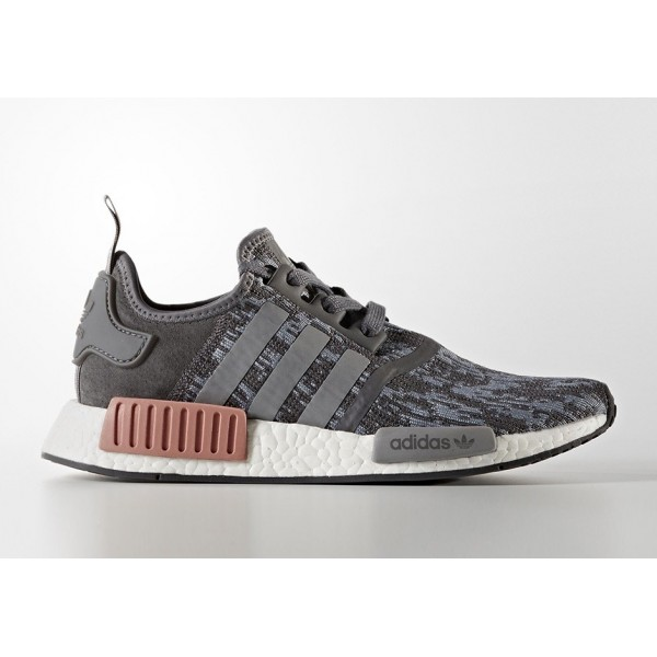 Adidas Women Originals NMD R1 Grey Pink Shoes BY96...