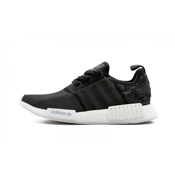 Adidas Women Originals NMD R1 Black White Running Shoes S76906