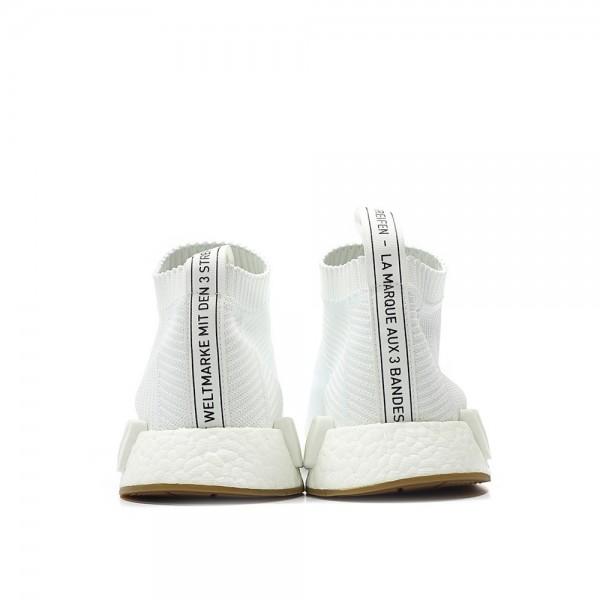 Adidas Women Originals NMD CS1 City Sock Primeknit Boost White Shoes BA7208