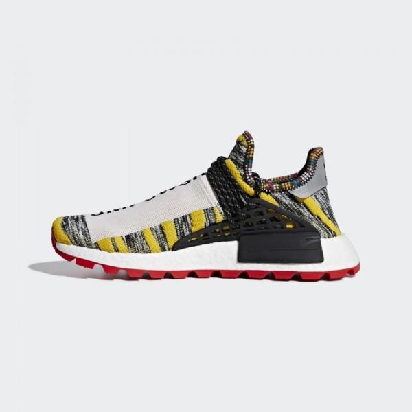 Pharrell Unisex x Adidas Hu NMD Shoes Core Black/R...