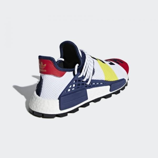 Pharrell Unisex Williams x Adidas NMD Hu White Red Blue BB9544