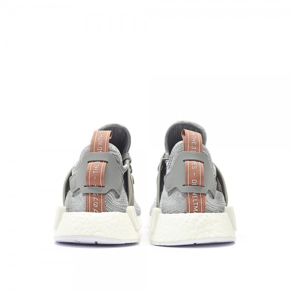 Adidas Women Originals NMD XR1 Runner Boost Primeknit Grey Pink White Shoes BB3686
