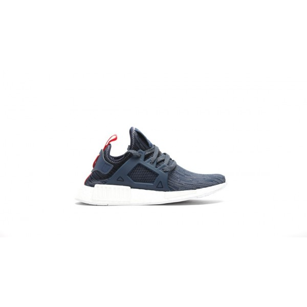 Adidas Women Originals NMD XR1 Primeknit Blue Red Shoes BB3685