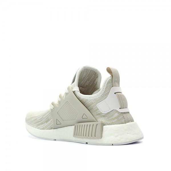 Adidas Women Originals NMD XR1 Primeknit Runner Boost White Grey Shoes BB2369