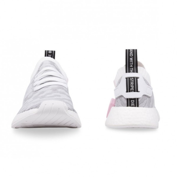 Adidas Women Originals NMD R2 Primeknit White Black Casual Shoes BY9520
