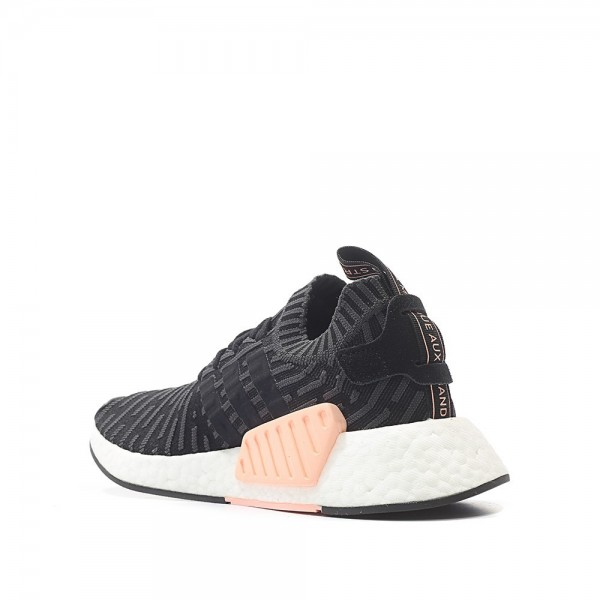 Adidas Women Originals NMD R2 Primeknit Runner Boost Black White Shoes BA7239