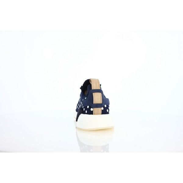 Adidas Women Originals NMD R2 PK Blue White Shoes BA7560