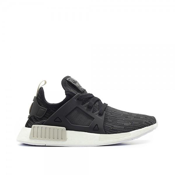 Adidas Women NMD XR1 Primeknit Black White Shoes B...