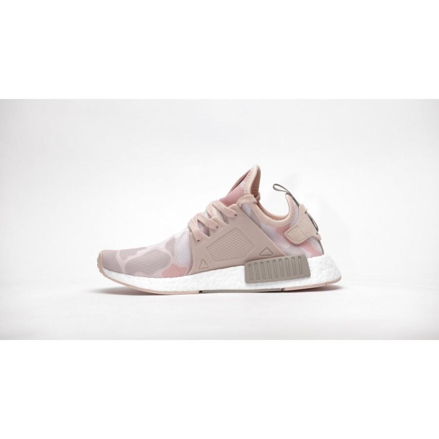 new arrival b2adb bbaa7 Adidas NMD XR1 Duck Camo White Pink BA7753 Women Running Shoes