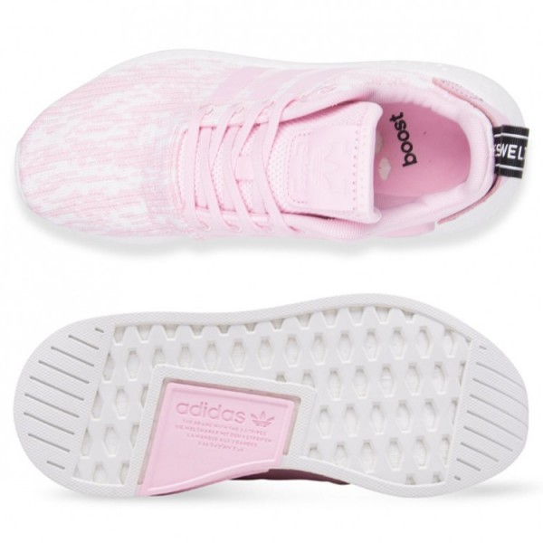 Adidas Women NMD R2 Pink White Shoes BY9315