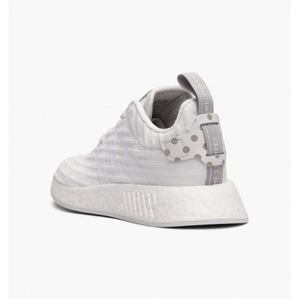 "Adidas Women NMD R2 Primeknit ""Triple White"" Shoes BY2245"