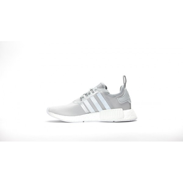 Adidas Women NMD R1 Silver White Running Shoes S76004
