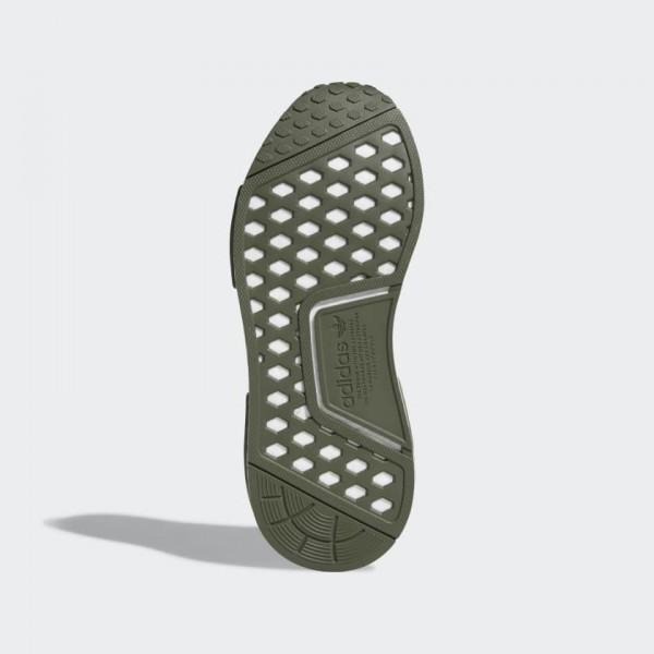 Adidas Women NMD R1 Running Shoe Olive/Gold F97172