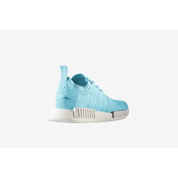 """Adidas Women NMD R1 Runner Primeknit """"Ice Blue"""" Shoes BY8763"""