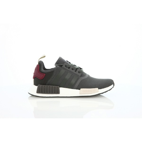 Adidas Women NMD R1 Red Grey White Shoes BA7752