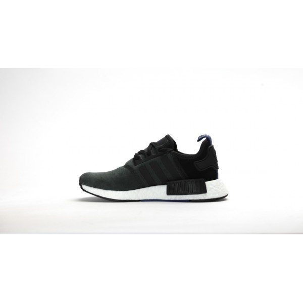 Adidas Women NMD R1 Runner Pk Boost Black Suede Shoes S75230