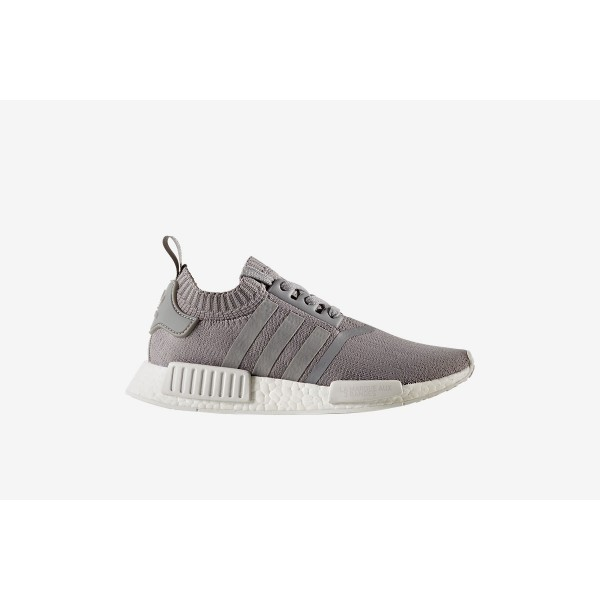 Adidas Women NMD R1 Primeknit Grey White Shoes BY8...