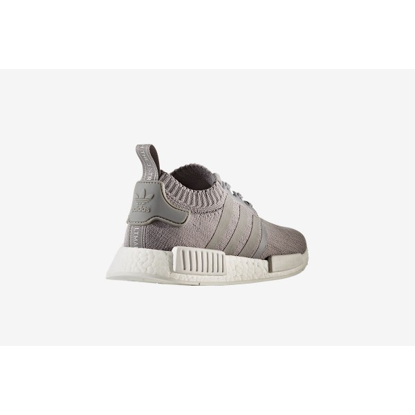 Adidas Women NMD R1 Primeknit Grey White Shoes BY8762