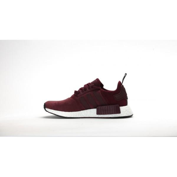 Adidas Women NMD R1 Maroon Burgundy White Shoes S75231