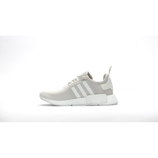 Adidas Women NMD R1 Boost Runner Primeknit White Shoes S76007