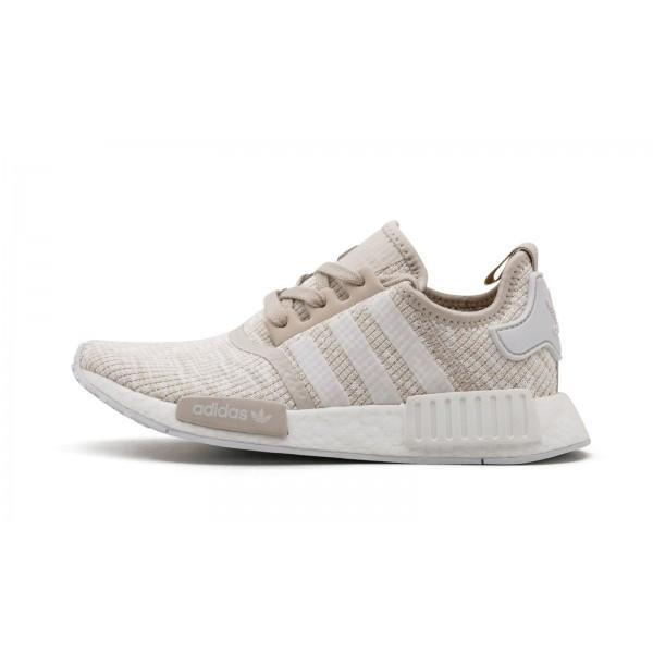 Adidas Women NMD R1 Beige Tan White Shoes CG2999
