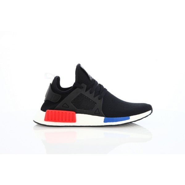 Adidas Unisex Originals NMD XR1 Primeknit Runner Boost Black Red Blue Shoes BY1909