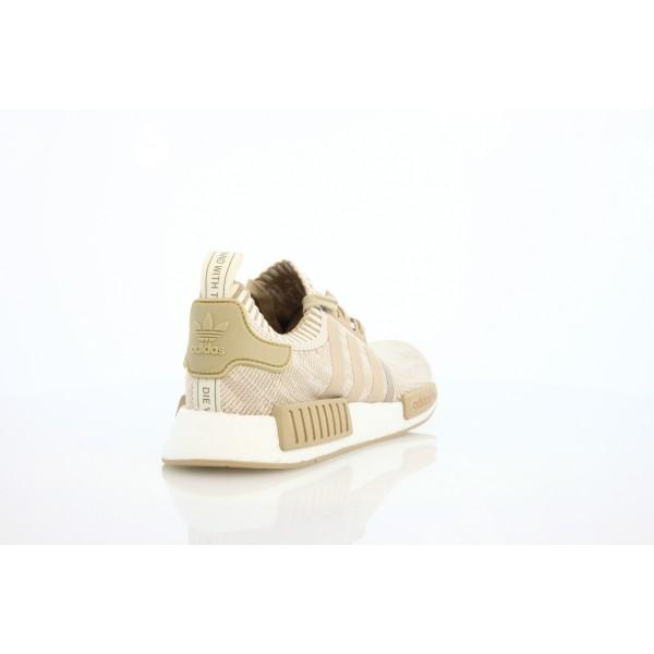 Adidas Unisex Originals NMD R1 Primeknit Khaki White Shoes BY1912