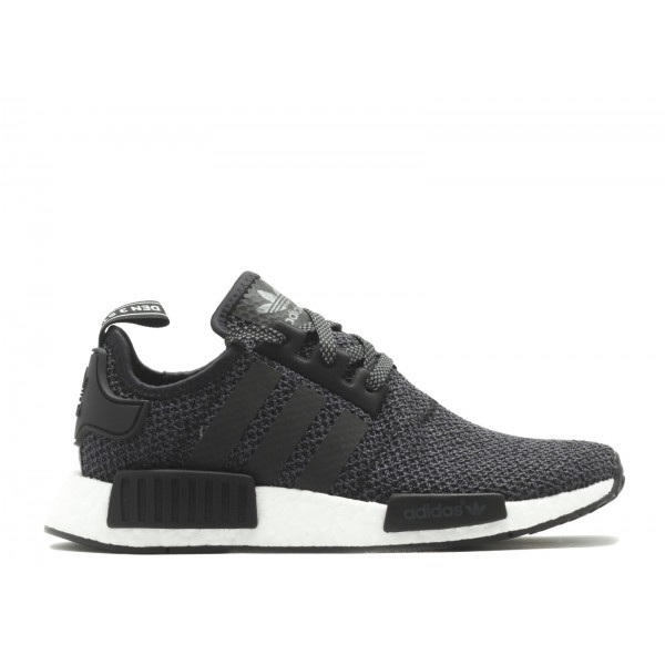 Adidas Unisex NMD R1 Runner Black White Shoes BA78...