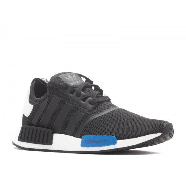 Adidas Unisex NMD Runner Boost Black White Blue Shoes S75338