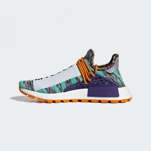 "Adidas Unisex NMD Hu Pharrell ""Solar Pack"" Orange Shoes BB9528"