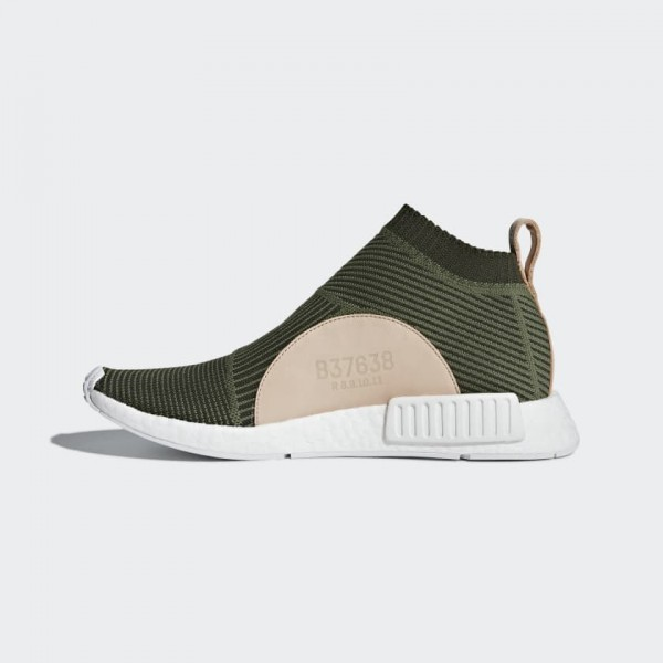 Adidas Unisex NMD CS1 Primeknit Base Green/White S...