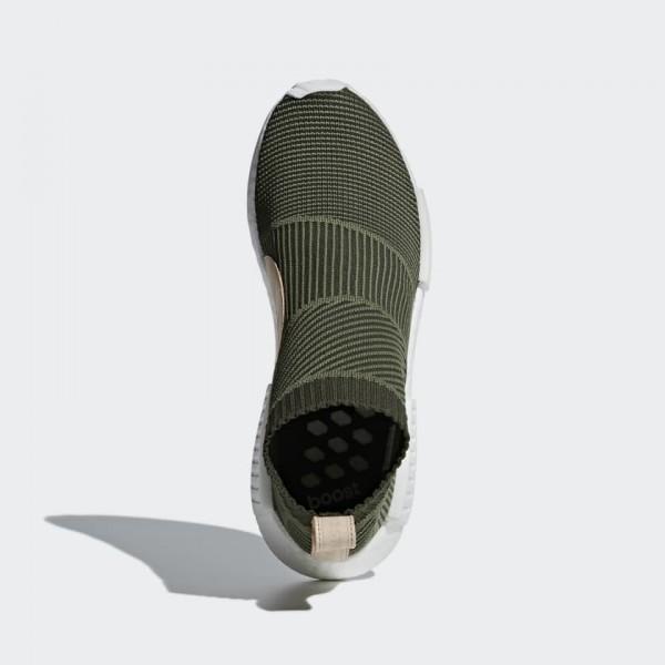 Adidas Unisex NMD CS1 Primeknit Base Green/White Shoes B37638