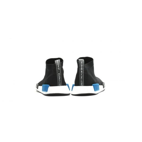 Adidas Unisex NMD City Sock Primeknit Black Blue White Shoes S79152
