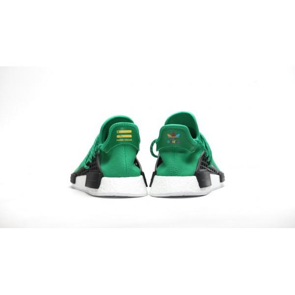 Adidas Men X Pharrell Williams Hu Human Race NMD Green White Shoes BB0620