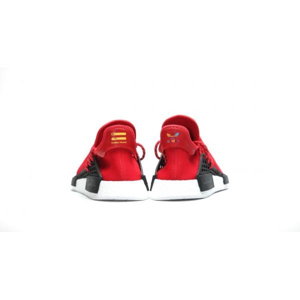 Adidas Men X Pharrell PW Human Race NMD Red White Shoes BB0616