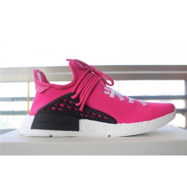"Adidas Men PW NMD Human Race Pharrell ""Shock Pink"" Shoes BB0621"