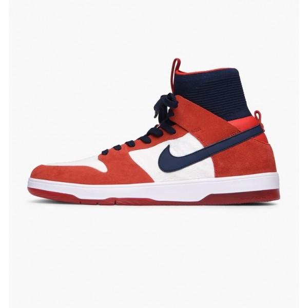 Nike Men Zoom Dunk High Elite Red Blue White Shoes...