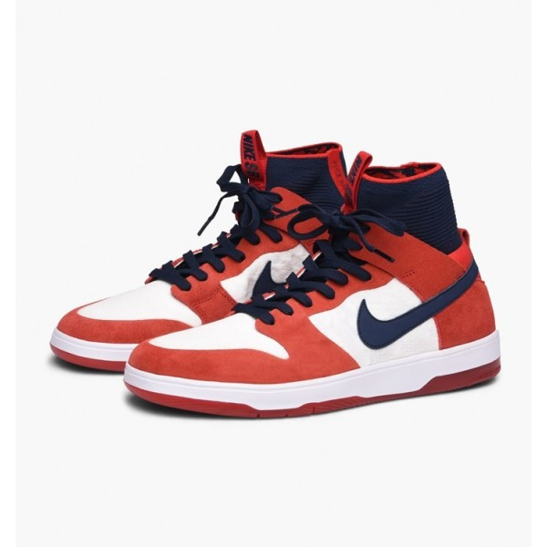 Nike Men Zoom Dunk High Elite Red Blue White Shoes 917567-641