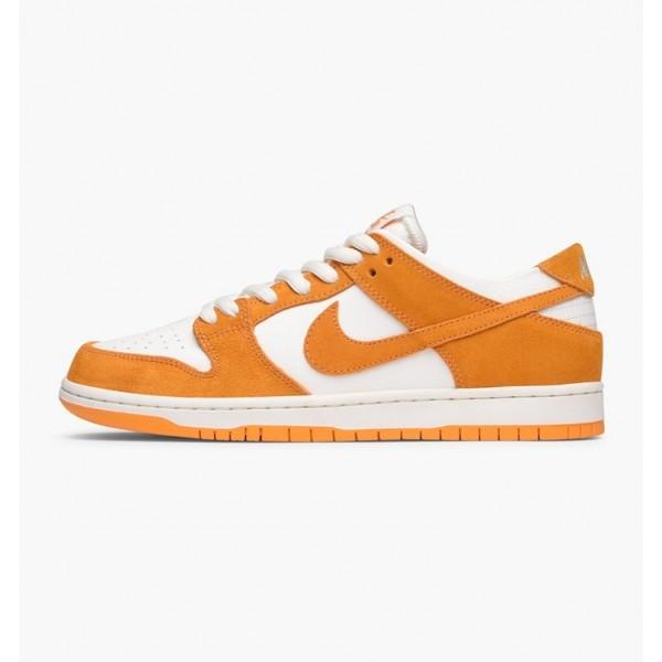 Nike Men SB Zoom Dunk Low Pro Orange White Shoes 8...