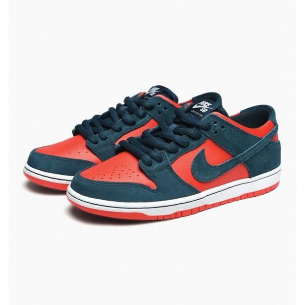 Nike Men SB Zoom Dunk Low Pro Green Red White Shoes 854866-336