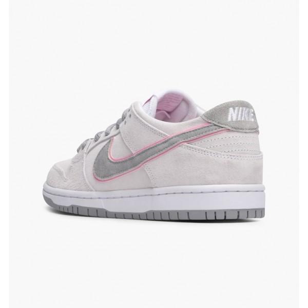 Nike Men SB Zoom Dunk Low Pro Ishod Wair White Pink Silver Shoes 895969-160
