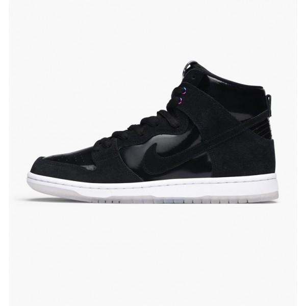 Nike Men Zoom Dunk High Pro Black White Shoes 8548...