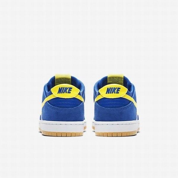 Nike Men SB Zoom Dunk Low Pro Blue Yellow White Shoes 854866-471